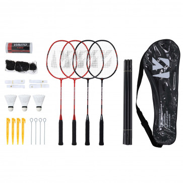 Viavito Super Strike 4 Player Badminton Set