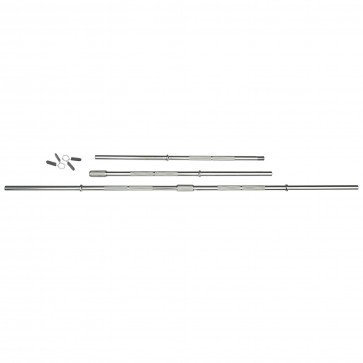 5ft Standard Chrome Barbell Bar with Spring Collars