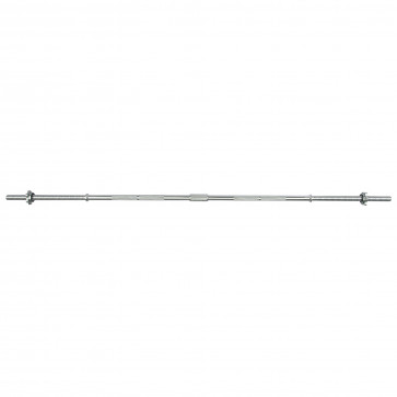 6ft Standard Chrome Barbell Bar with Spinlock Collars