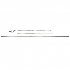 6ft Standard Chrome Barbell Bar with Spring Collars